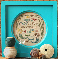 M is for Mermaid from Heartstring Samplery - click for more