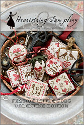 Valentine Edition  Festive Little Fobs from Heartstring Samplery - click for more
