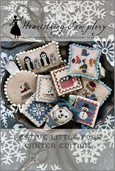 Festive Little Fobs - Winter Edition from Heartstring Samplery - click for more