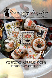 Festive Little Fobs #9 - Harvest Edition from Heartstring Samplery - click for more