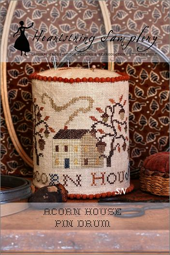 Acorn House Pin Drum from Heartstring Samplery - click for more
