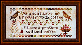 Coffee Drinker's Confession from Heartstring Samplery - click for more