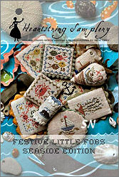 Festive Little Fobs #6 - Seaside Edition from Heartstring Samplery - click for more