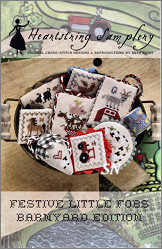 Barnyard Festive Fob Chart from Heartstring Samplery - click for more