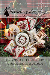 Festive Little Fobs - Christmas Edition from Heartstring Samplery - click for more