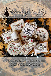 Festive Little Fobs - Coffee Edition from Heartstring Samplery - click for more