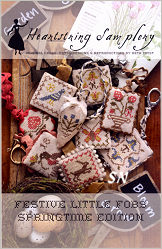 Festive Little Fobs Springtime Edition from Heartstring Samplery - click for more