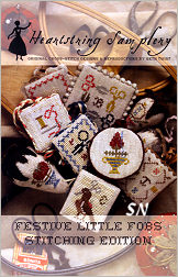 Festive Little Fobs Stitching Edition from Heartstring Samplery - click for more