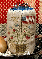 Grand Old Flag Pin Drum from Heartstring Samplery - click for more