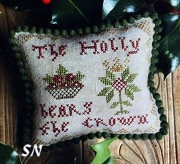 The Holly Bears the Crown from Heartstring Samplery - click for more