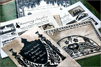 A Stitcher's Bequest Project Labels from Heartstring Samplery - click for more