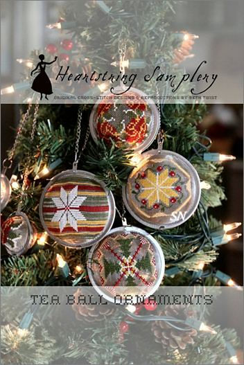 Tea Ball Ornaments from Heartstring Samplery - click for more