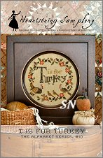T is for Turkey from Heartstring Samplery - click for more