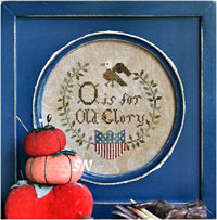 O is for Old Glory from Heartstring Samplery - click for more