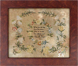 Anne Franks 1825 Sampler from Heartstring Samplery - click for more