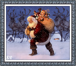 Santa and the Reindeer from Heaven and Earth Designs - click to see more