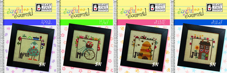 April, May, June & July Joyful Journals from Heart in Hand - click for more
