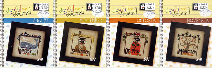 Aug, Sept, Oct & November Joyful Journals from Heart in Hand - click for more