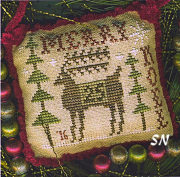 2016 Sampler Ornament Merry Deery from Homepsun Elegance - click to see more