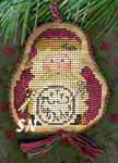 2007 Ornament Merry Stitches SANTA Chart from Homespun Elegance -- click to see more