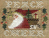 2011 Santa Ornament Peace & Cheer from Homepsun Elegance - click to see more