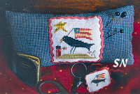 Crow Patriotic Needle Necessaire from Homepsun Elegance - click to see more