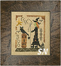 A Halloween Year October Stitching Witch from Homepsun Elegance - click to see more
