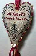 Island Cottage All Hearts Come Home Hanging Heart - click for more