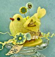 Little Birdie Pincushion Kit from Just Another Button Company - click to see more