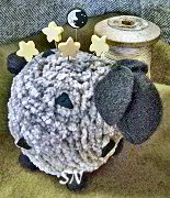 Over The Moon for Ewe Pincushion Kit from Just Another Button Company - click to see more