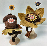 Acorn Pixie Spoolkeep and Sun Flower Pixie Spoolkeep from Just Another Button Company - click to see more