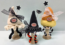 Candy Corn Spoolkeep, Ghost Spoolkeep and Witch Hat Spoolkeep from Just Another Button Company - click to see more