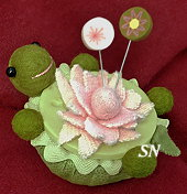 Lazy Turtle Pincushion from Just Another Button Company - click to see more