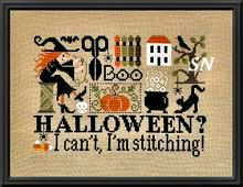 Halloween?� I Can't, I'm Stitching! from Jardin Prive - click for more