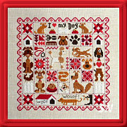 Patchwork aux Chiens DOGS from Jardin Prive - click for more