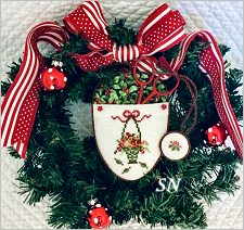 A Christmas Scissor Basket from JBW Designs