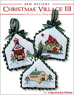 228 Christmas Village III Card w emb from JBW Designs -- click to see more