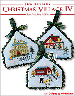 229 Christmas Village IV Card w emb from JBW Designs -- click to see more