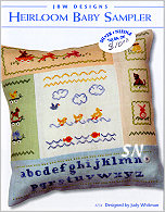 234 Heirloom Baby Sampler from JBW Designs -- click to see more