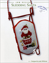 355 Sledding Santa from JBW Designs