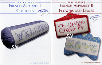 French Alphabet I Curlicues and French Alphabets II Flowers and Leaves from JBW Designs
