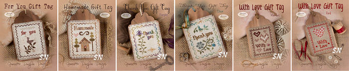 Stitched Gift Tags by Jeannette Douglas -- click to see more