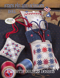 Stars Pin and Scissor Roll by Jeannette Douglas -- click to see more