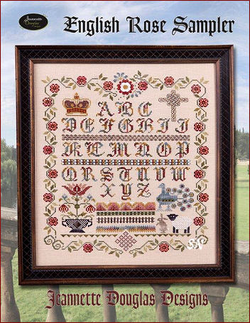English Rose Sampler by Jeannette Douglas -- click to see more