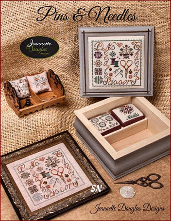 Pins & Needles - A charming Stitching Box! by Jeannette Douglas -- click to see more