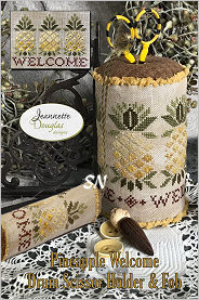 Pineapple Welcome Drum Scissor Holder and Fob from Jeannette Douglas