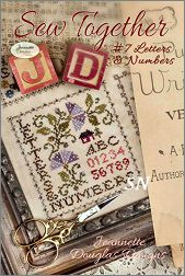 Sew Together #7 Letters & Numbers from Jeannette Douglas