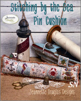 Stitching by the Sea Pincushion from Jeannette Douglas