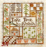 Take Time to Stitch by Jeannette Douglas Designs -- click for more