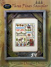 Three Pines Sampler by Jeannette Douglas -- click to see more